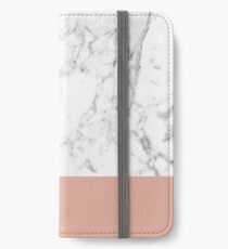 Korallen Marmor iPhone Flip-Case/Hülle/Skin
