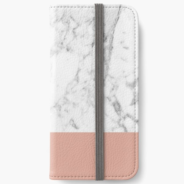Coral Marble iPhone Wallet