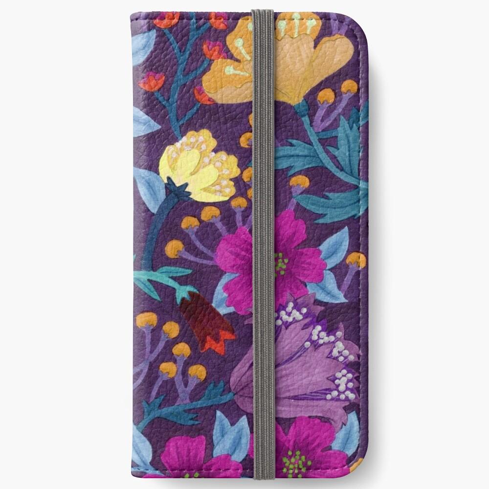 Floral Fundas tarjetero para iPhone