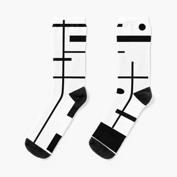 Black And White Abstract Socks