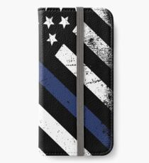 The thin blue line iPhone Wallet/Case/Skin