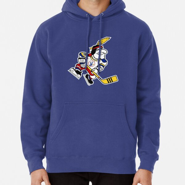 Defunct - KC Scouts Mascot - Vintage Hockey Pullover Hoodie