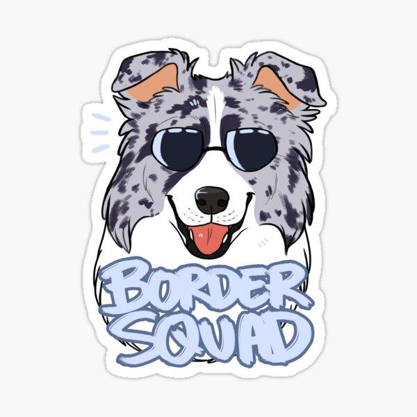 BORDER SQUAD (blue merle) Sticker