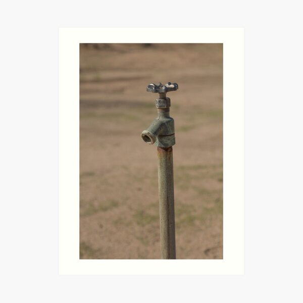 Old Faucet in the Desert Art Print