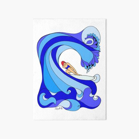 Surfer Girl Art Board Print