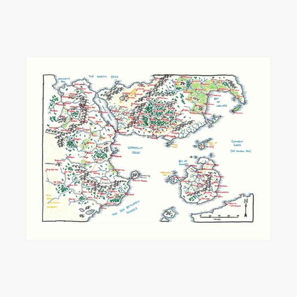 Copy of Overview of the Long Strait (A4) Art Print