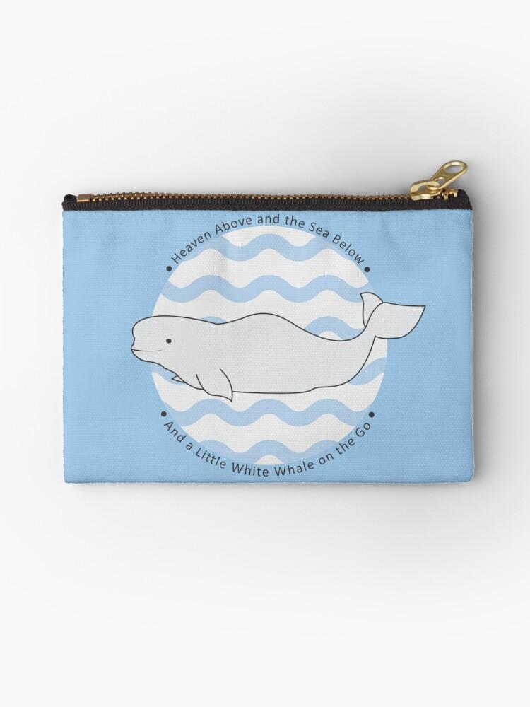 Teal Beluga Whale Coin Purse