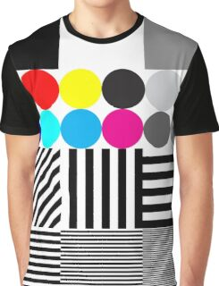Extreme tone test pattern with colour Graphic T-Shirt