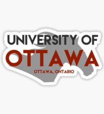uOttawa with gee gee Sticker