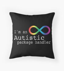 Autistic Package Handler Throw Pillow