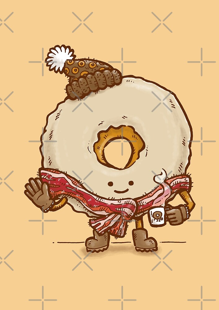 Bacon Scarf Maple Donut by nickv47