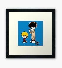 Calvin & Hobbes : Afro Style Framed Print