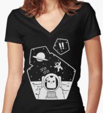 Christobelle Purrlumbus: Oblivious Explorer of Space Fitted V-Neck T-Shirt