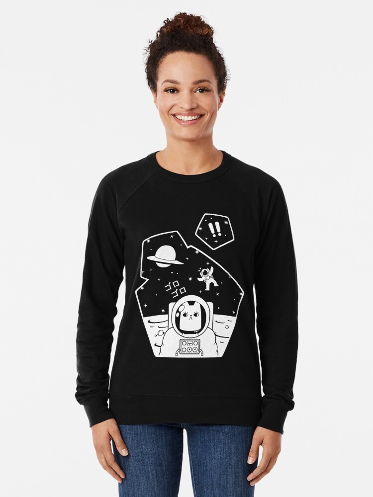 Alternate view of Christobelle Purrlumbus: Oblivious Explorer of Space Lightweight Sweatshirt