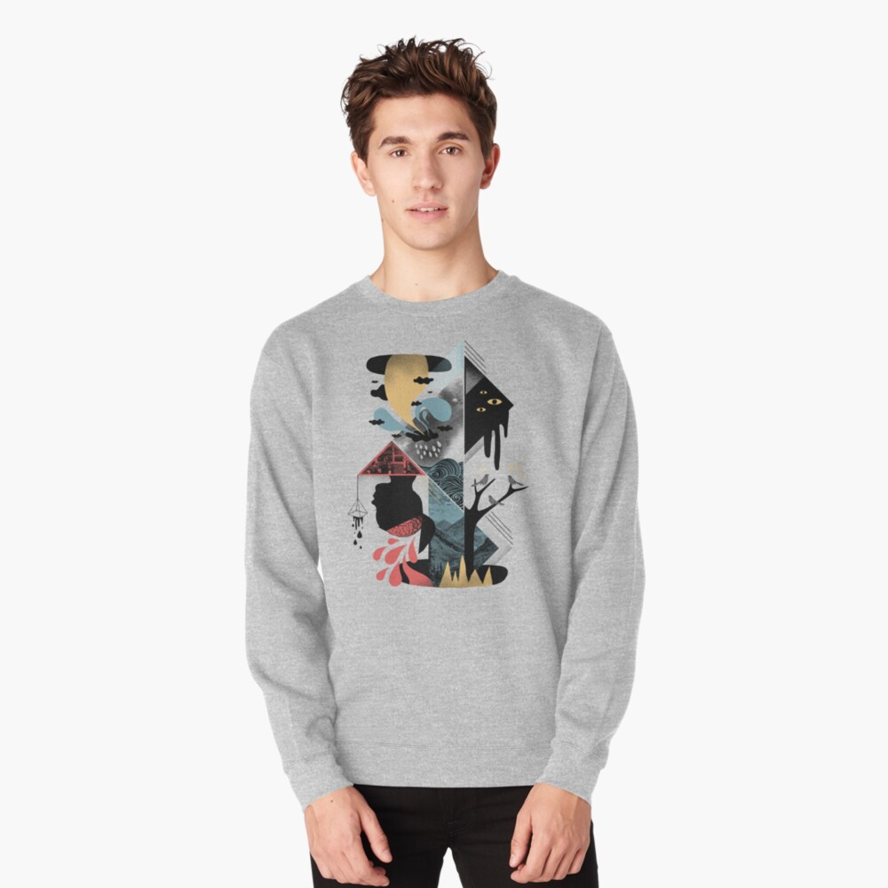 Shapes and Nightmares Pullover Sweatshirt
