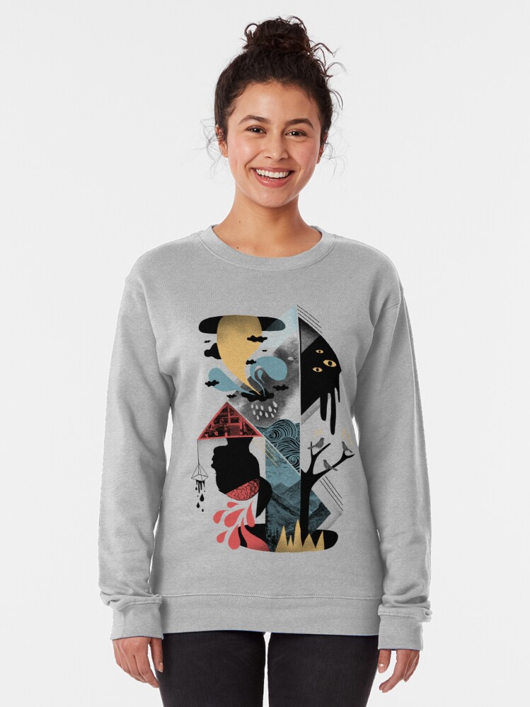 Alternate view of Shapes and Nightmares Pullover Sweatshirt