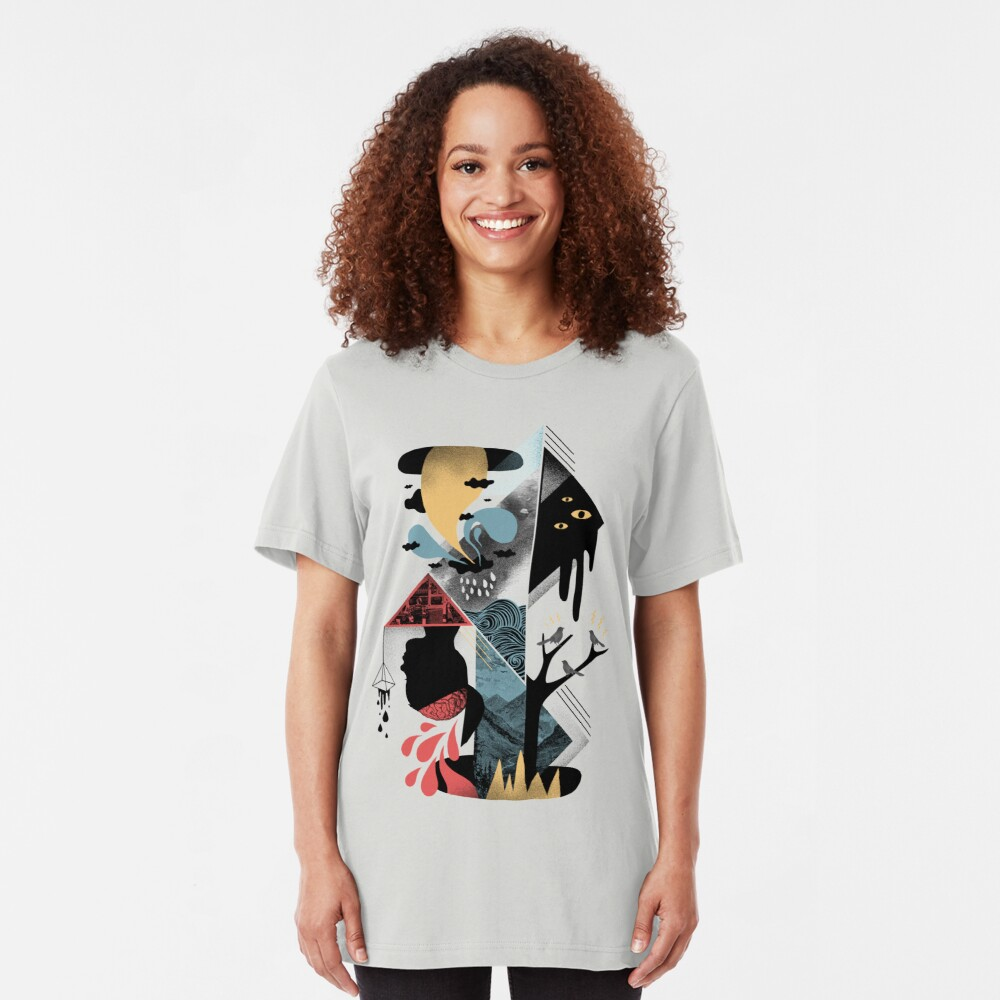 Shapes and Nightmares Slim Fit T-Shirt