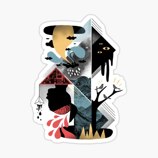 Shapes and Nightmares Sticker