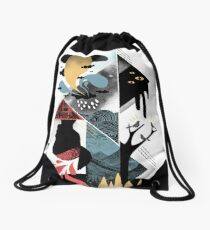 Shapes and Nightmares Drawstring Bag