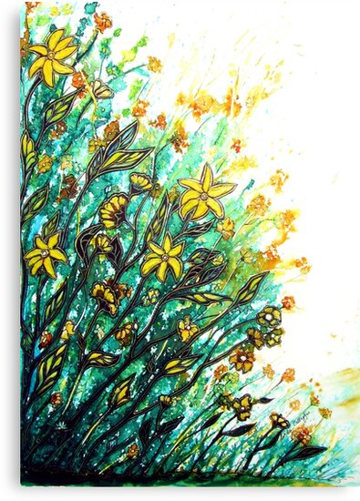 Summer Breeze - Flowers by Linda Callaghan
