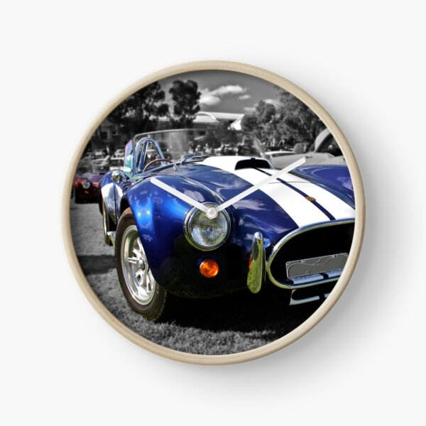 Blue AC Cobra Clock