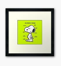 Snoopy : The Perfect Friend Framed Print