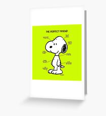 Snoopy : The Perfect Friend Greeting Card