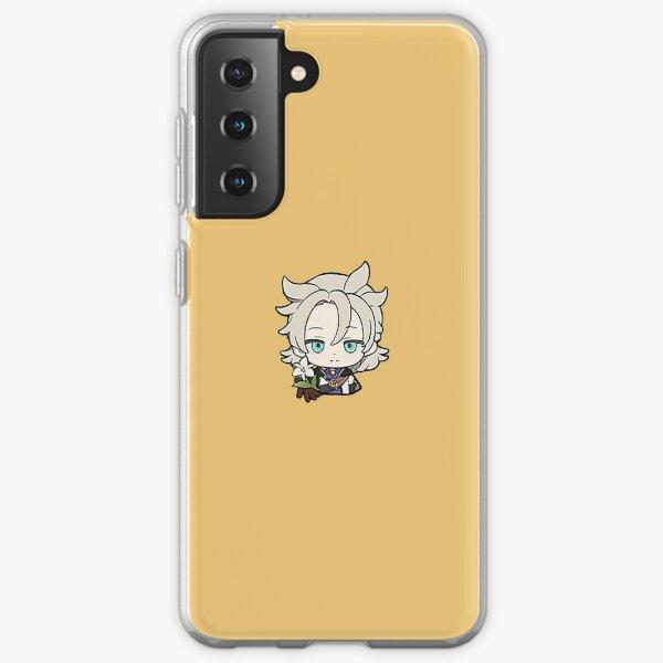 "Albedo | Genshin Impact Sticker ""Cecilia"" Samsung Galaxy Soft Case"