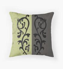 Grass Crest Shield Throw Pillow