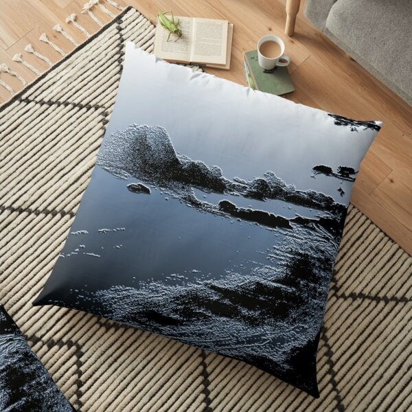 Beach In Blue Floor Pillow