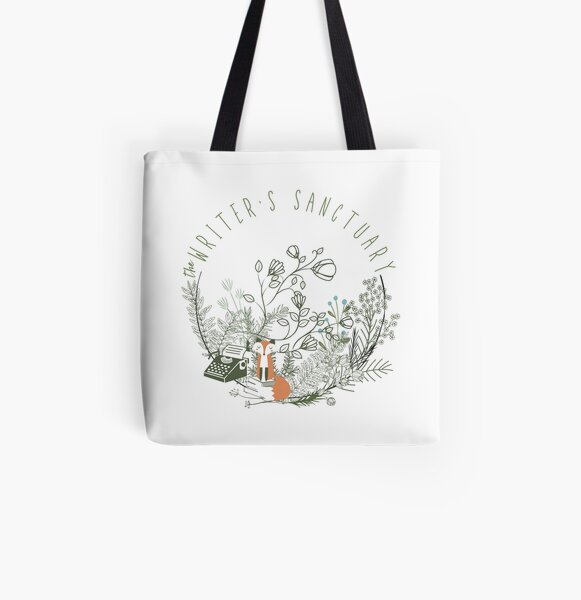 The Writer's Sanctuary 2021 Swag All Over Print Tote Bag