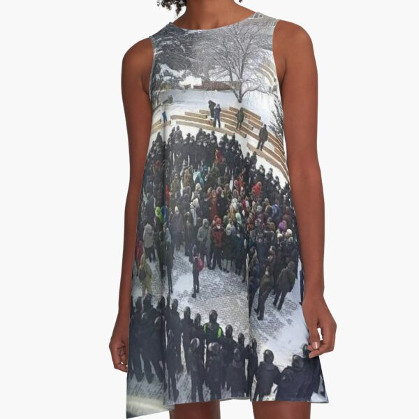 Russian People and State Power A-Line Dress