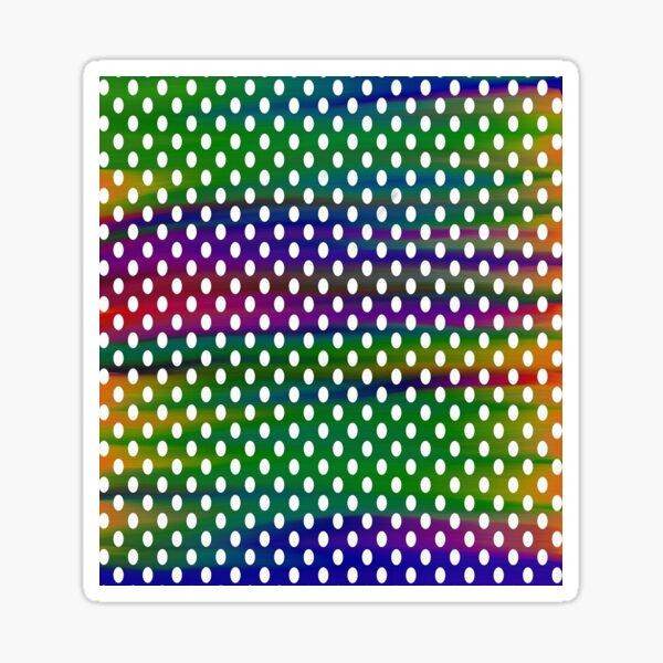 Multicolour Background Polka Dots Sticker