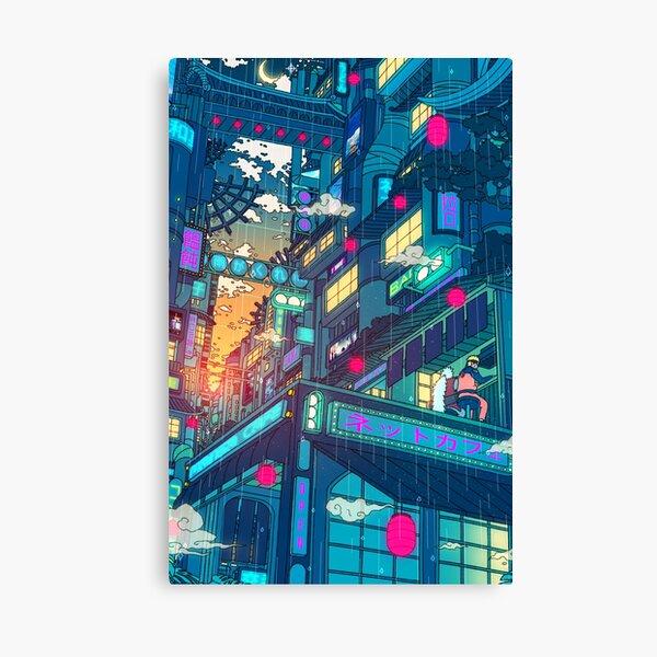 Rain Village Canvas Print