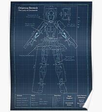 Orianna Robotic Blueprint Poster