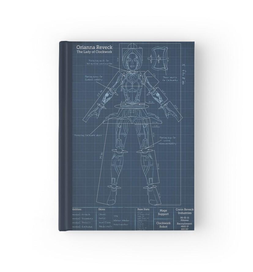 Orianna robotic blueprint hardcover journals by agentsilver redbubble orianna robotic blueprint by agentsilver malvernweather Gallery