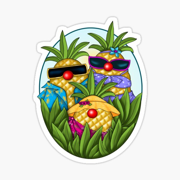 Tropical Pineapple Passion Sticker