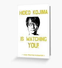 Kojima is Watching Greeting Card
