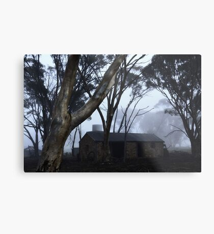 Smithy in the mist Metal Print