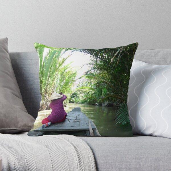 Vietnam Back Canals  Throw Pillow