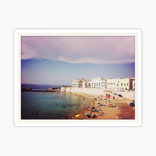 Gallipoli Town Beach, Italy Sticker