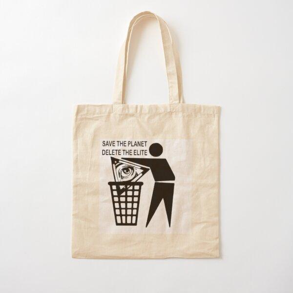 Save the Planet Delete the Elite Cotton Tote Bag
