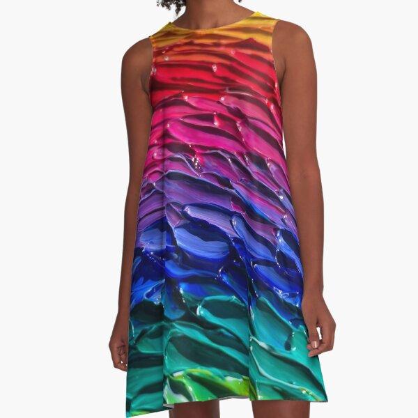 Waves of Color A-Line Dress