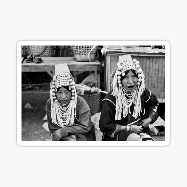 Akha Tribe - Chiang Mai, Thailand Sticker