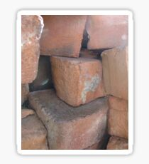 bricks from the old days Sticker
