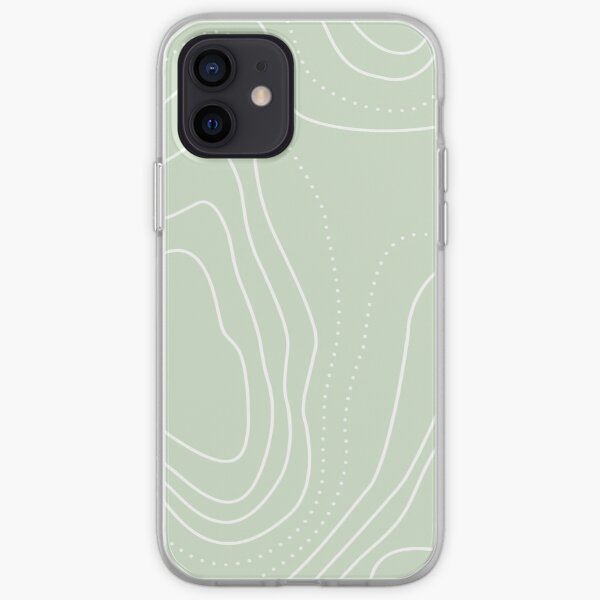 boho lines green  iPhone Soft Case