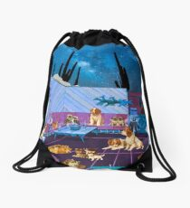 LIKE DOGS AND CATS Drawstring Bag