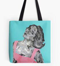 Elizabeth Taylor Newspaper Portrait Tote Bag
