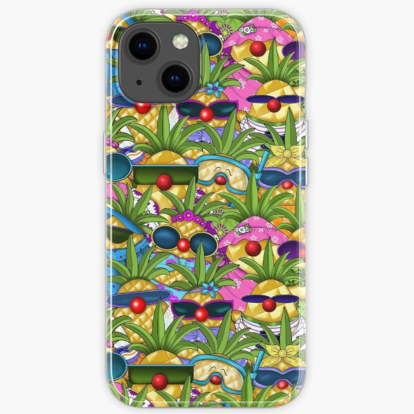 Tropical Pineapple Passion iPhone Soft Case