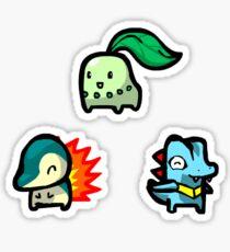 Chibi Gen 2 Starters Sticker